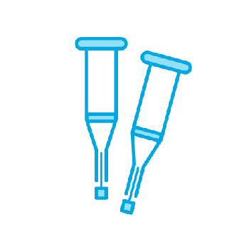 crutches icon