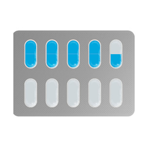 medication in blister pack pills icon