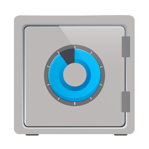 locked safe icon