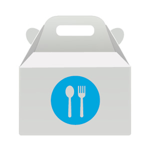 takeout food container icon
