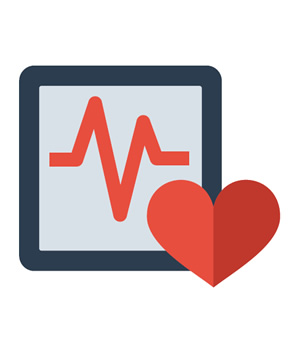 ekg and heart icon
