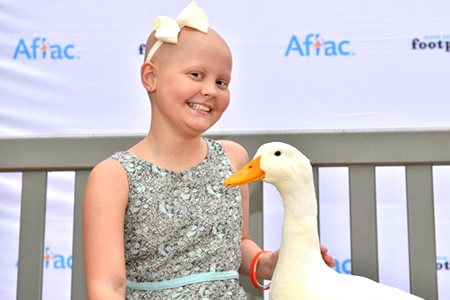 Esme with Aflac duck