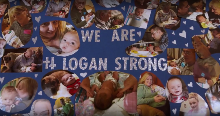 We are Logan Strong picture board