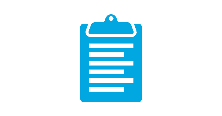 clipboard / check list icon
