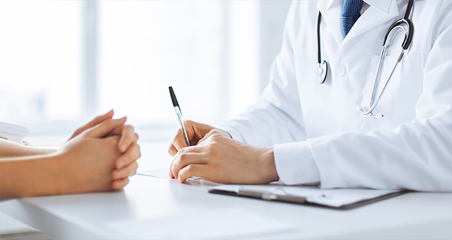 Doctor discussing treatment plans with patient