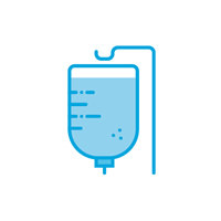 IV drip bag icon