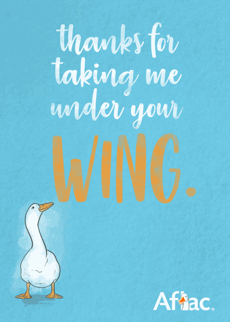Thanks for taking me under your wing.